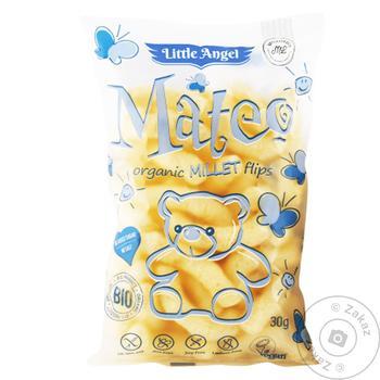 Снек Little Angel Bio кукурудзяно-пшоняний без глютену 30г - купити, ціни на Ашан - фото 1