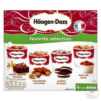 Набор мороженого Haagen-Dazs любимый выбор 4шт*95мл