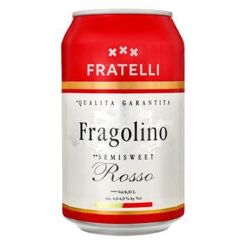 Fratelli Fragolino Semi-Sweet red Sparkling Wine Drink 6-6,9% 0,33l - buy, prices for EKO Market - photo 1