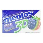 Жевательная резинка Mentos 3D Ежевика-киви-клубника 33г
