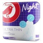Прокладки Ашан Night гигиенические ультратонкие 10шт