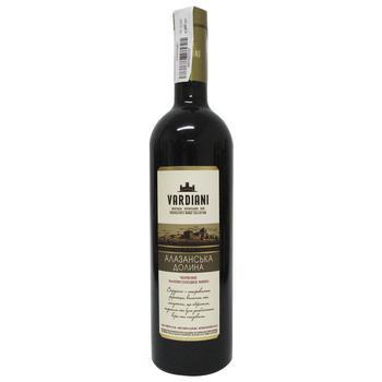 Вино Vardiani Алазанская долина красное полусладкое 9-13% 0,75л