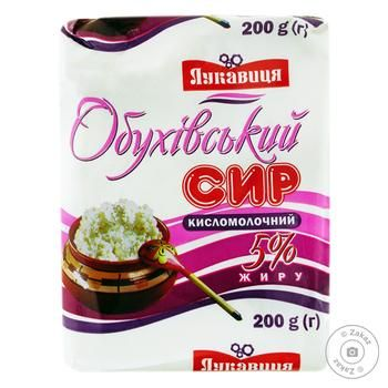 Сир кисломолочний Лукавиця Обухівський 5% 200г Україна