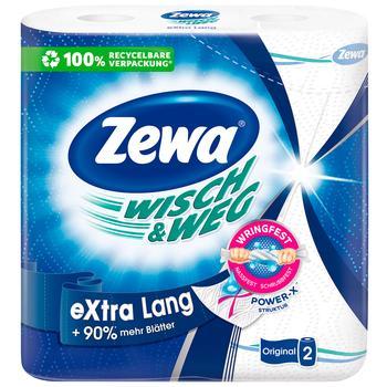 Полотенца кухонные Zewa Wisch&Weg бумажные 86лист 2рул - купить, цены на МегаМаркет - фото 1