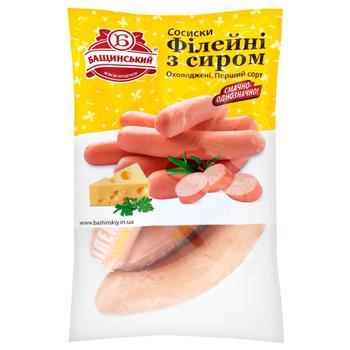 Сосиски Бащинский Филейные с сыром первого сорта