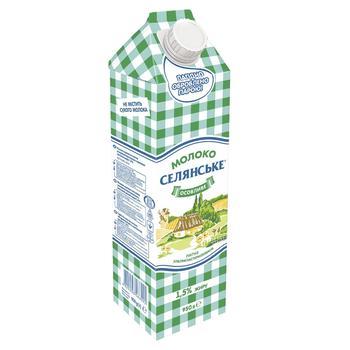 Selianske Osoblyve Ultrapasteurized Milk 1,5% 950g - buy, prices for CityMarket - photo 1