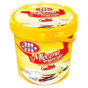 Сырок мягкий Mlekovita Молочная импрессия с измельченным стручком ванили 1кг