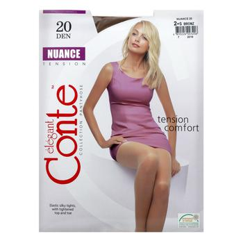 Tights Conte bronze polyamide for women 20den 2size - buy, prices for MegaMarket - image 1