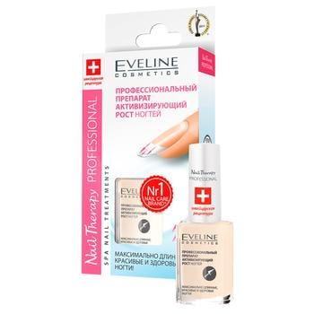 Лак Eveline Nail Therapy Professional Активатор роста ногтей 12 мл - купить, цены на Varus - фото 1