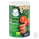 Gerber Organic Wheat-Oatmeal With Tomatoes And Carrots For Children From 10 Months Snack 35g