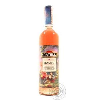 Вино Fratelli Rosato розовое полусладкое 11% 0,75л
