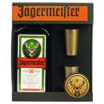 Лікер Jagermeister 35% 0,7л+ 2 склянки набір подарунковий