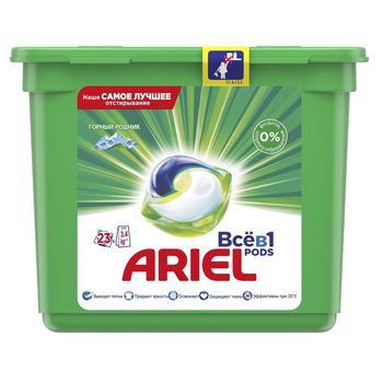 Ariel Pods 3 In 1 Mountain Spring Washing Capsules 23pcs 28,8g