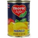 Манго Tropic life ломтиками в сиропе 425г