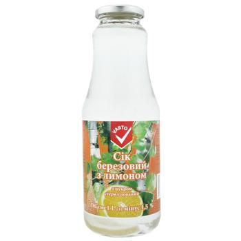 Сок Varto березовый с лимоном с сахаром 1л