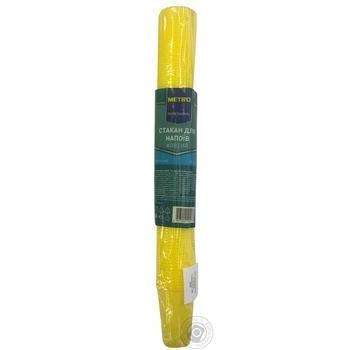 Стакан одноразовий Metro Professional жовтий 200мл 100шт - купити, ціни на Метро - фото 1