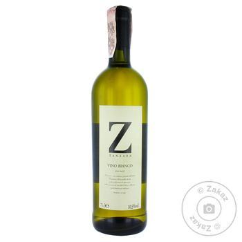Вино Zanzara Bianco белое полусладкое 10,5% 0,75л