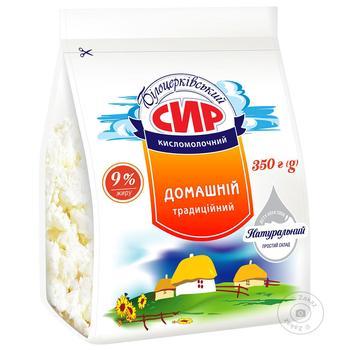 Творог Белоцерковский Домашний 9% пакет 400г - купить, цены на Novus - фото 1