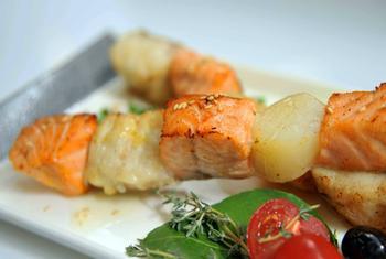 Шашлык рыбно-овощной