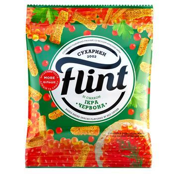 Сухарики Flint со вкусом красной икры 70г