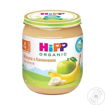 Пюре ХиПП Яблоки с бананами без сахара для детей с 4 месяцев 125г - купить, цены на Ашан - фото 3