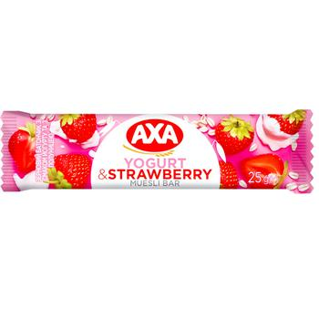 Батончик АХА зерновой йогурт с клубникой 25г