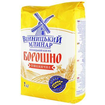 Борошно Вінницький Млинар пшеничне вищий гатунок 1кг - купити, ціни на ЕКО Маркет - фото 1
