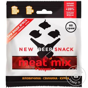 Мясо New Beer Snack Микс Ассорти 60г