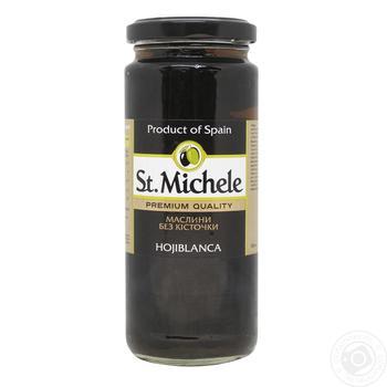 Маслини St. Michele без кісточки 358мл - купити, ціни на Восторг - фото 1