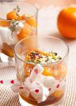 Жареные мандарины с тимьяном и маскарпоне