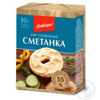 Globino Processed Cheese Smetanka 55% 90g - buy, prices for Furshet - image 1