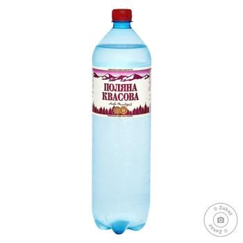 Вода Поляна Квасова газована лікувально-столова 1,5л - купити, ціни на МегаМаркет - фото 1