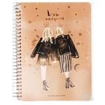 Shkolyaryk Romantic Notebook on Spiral B6 120 Sheets