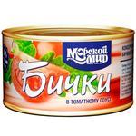 Бычки Морской Мир обжаренные в томатном соусе 240г