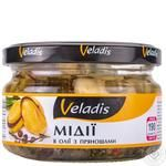 Мідії Veladis в олії з прянощами 190г