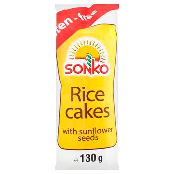 Галети Sonko рисові з насінням соняшнику 130г
