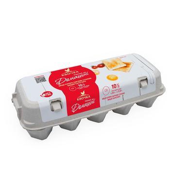 Яйця курячі Квочка Домашні С0 10шт - купити, ціни на Varus - фото 1