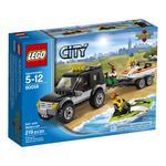 Конструктор Лего Сити таун Внедорожник с катером для детей от 5 до 12 лет 219 деталей