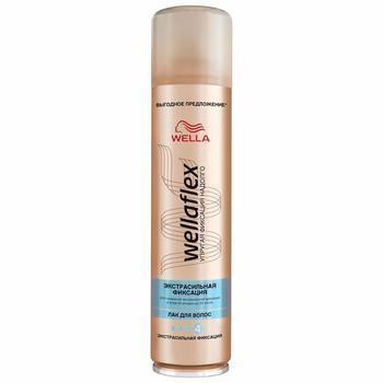 Лак для волос Wellaflex Объем экстрасильная фиксация 400мл - купить, цены на Метро - фото 1