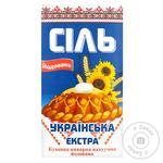 Соль экстра Славянская кухонная йодированная 1кг