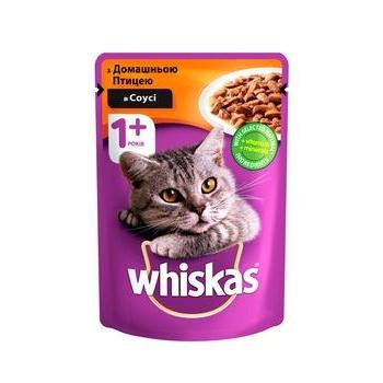 Корм Whiskas для кошек домашняя птица в соусе 100г - купить, цены на СитиМаркет - фото 1