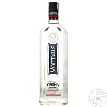 Khortytsya Sribna Prokholoda Special Vodka 40% 1l - buy, prices for CityMarket - photo 1