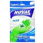 Перчатки Novax Aloe латексные M