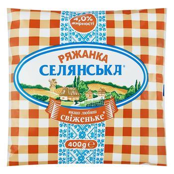Ряженка Селянська 4% 400г