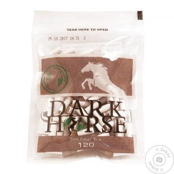 Фильтры Dark Horse Biodegradable Slim для самокруток 120шт - купить, цены на Novus - фото 1