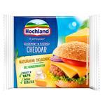 Сыр плавленый Hochland Чеддер ломтиками 40% 130г - купить, цены на МегаМаркет - фото 1