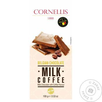 Шоколад Cornellis молочный со вкусом кофе 100г