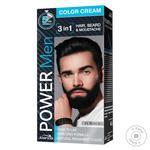 Краска для волос, бороды и усов Power Men 3в1 01 черная 60г