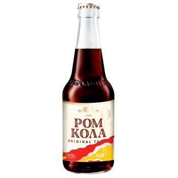 Напиток Оболонь Ром Кола слабоалкогольный сильногазированный 8% 0,33л - купить, цены на СитиМаркет - фото 1