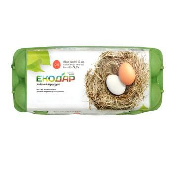 Яйце куряче Екодар С0 10шт - купити, ціни на CітіМаркет - фото 1